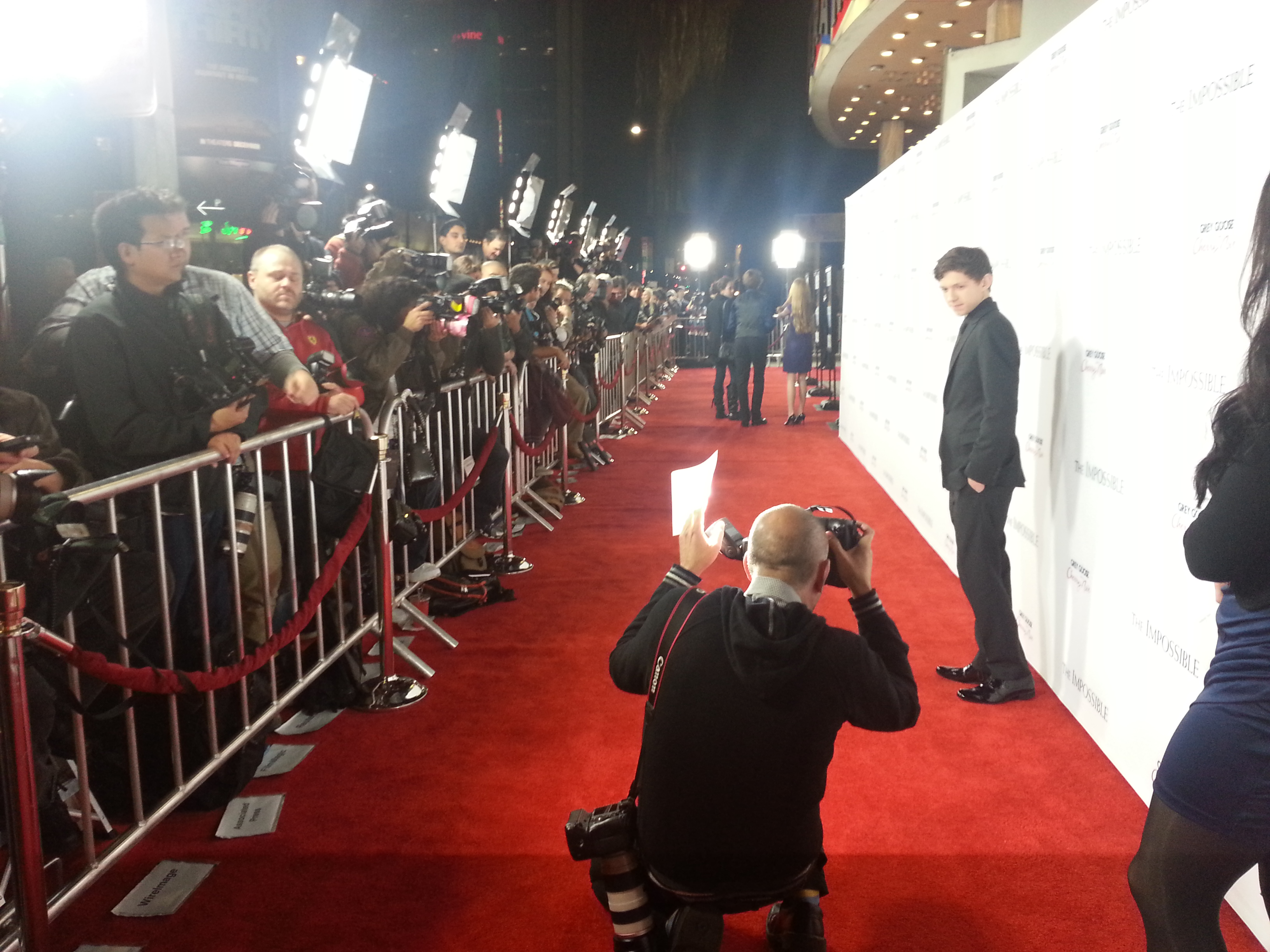tom holland, LA red carpet